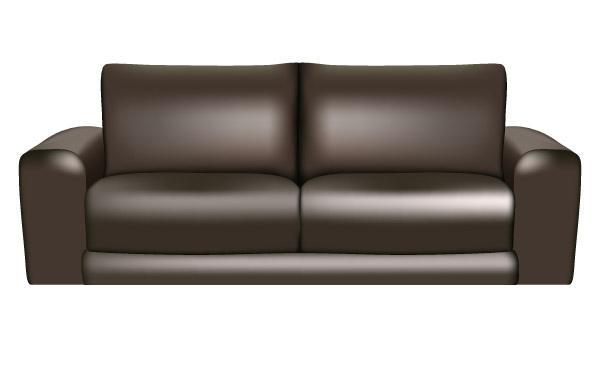 600x380 Brown Leather Sofa