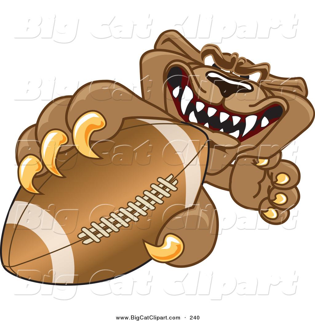 1024x1044 Big Cat Cartoon Vector Clipart Of A Growling Cougar Mascot