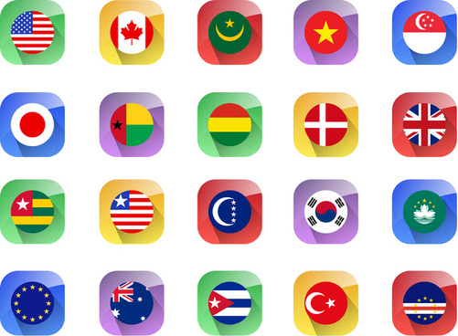 501x368 Country Flags Vector Free Vector Download (2,936 Free Vector) For