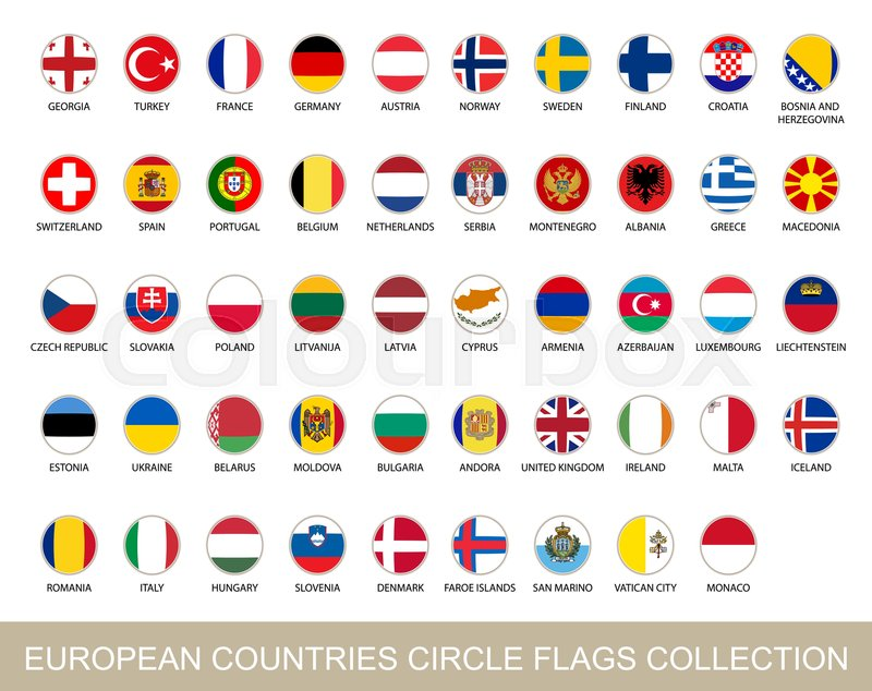 800x634 European Countries Circle Flags Collection. Circle Flags With