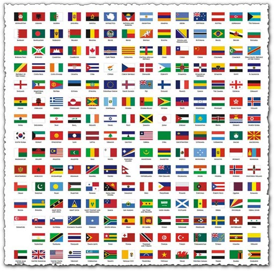 550x544 National Flags In Corel Draw Format