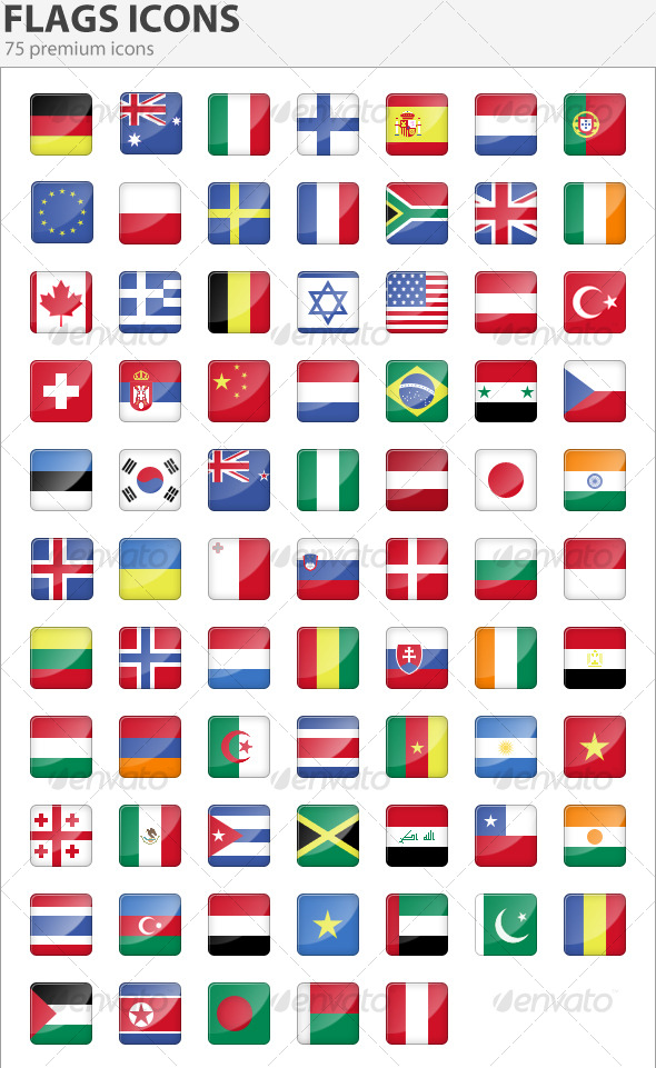 590x961 Ultimate Collection Of National (Country) Flag Icon Sets