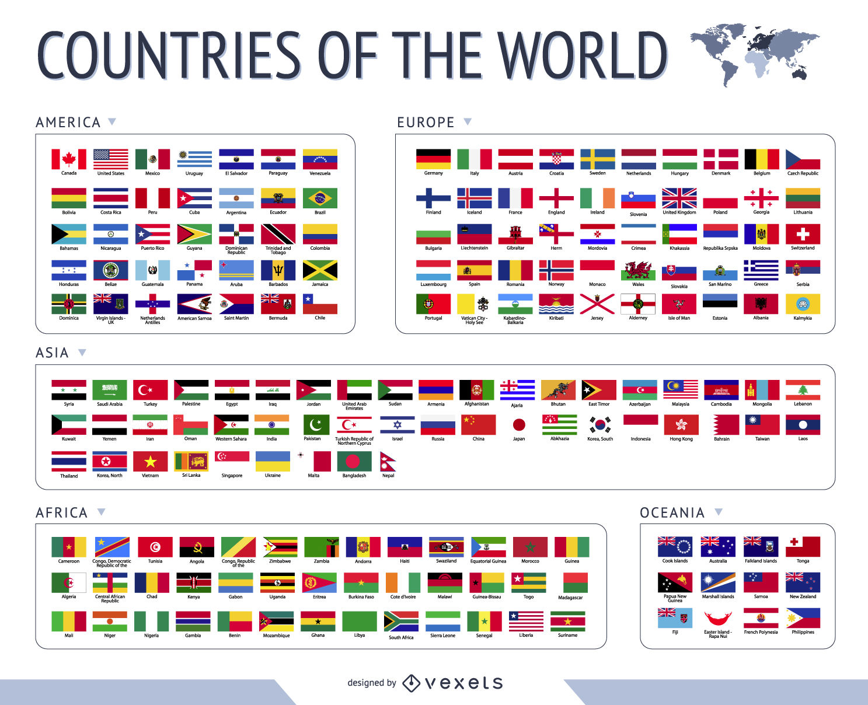 1487x1208 World Flags Vector
