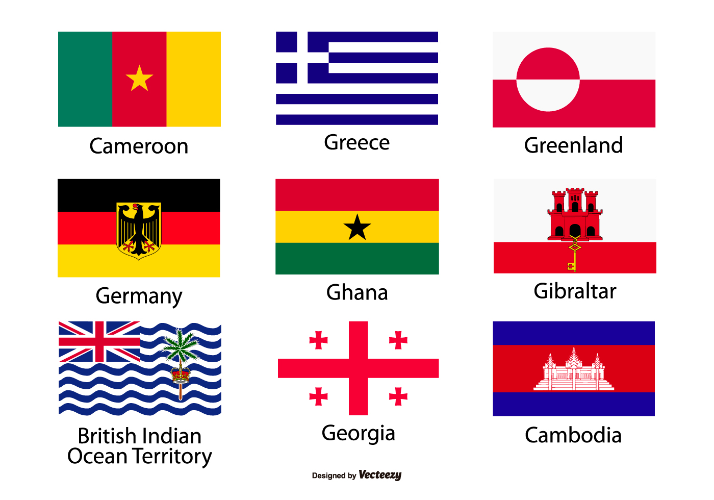 1400x980 Country Flags Vector