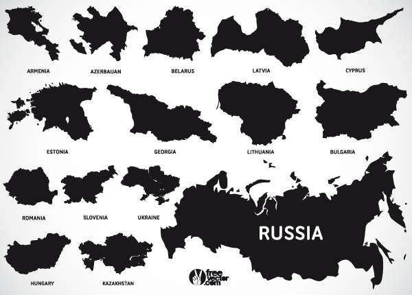 600x430 Europe Map Vectors Of European And Eurasian Countries 123freevectors
