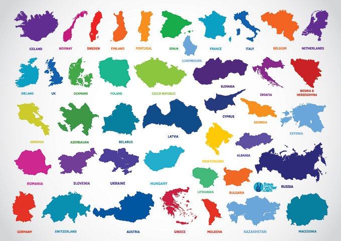 680x481 Free Europe Country Outline Map Vectors (Free) Psd Files, Vectors