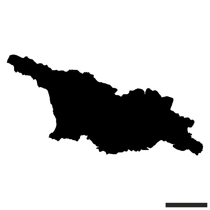 700x700 Blank Vector Map Of Georgia