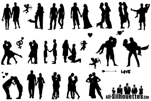 600x400 Free Romantic Love Couple Silhouette Vector Free Psd Files