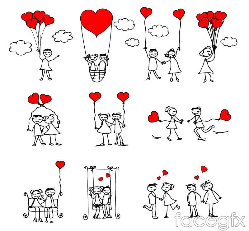 800x743 Free Download Hand Painted Love Couple Vector . Free Vector