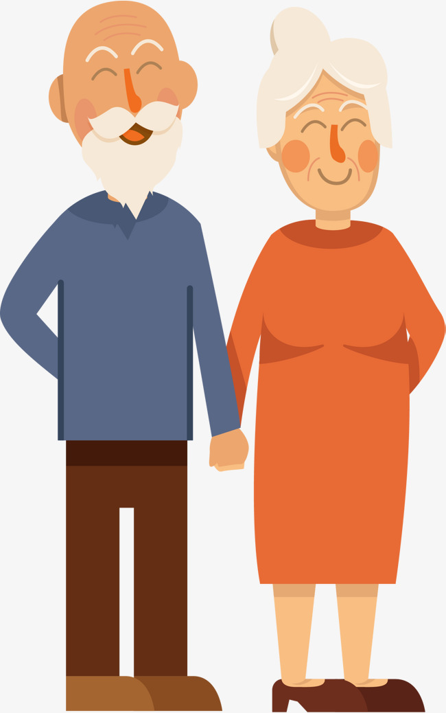 650x1038 Hands In The Old Couple, Vector Png, Old Married Couple, Love Each