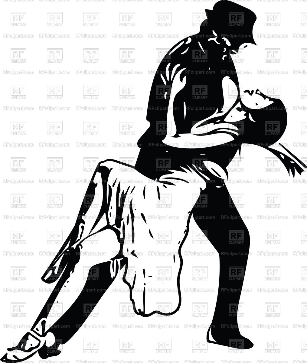 1015x1200 Abstract Drawing Of Latino Dancing Couple Vector Image Vector