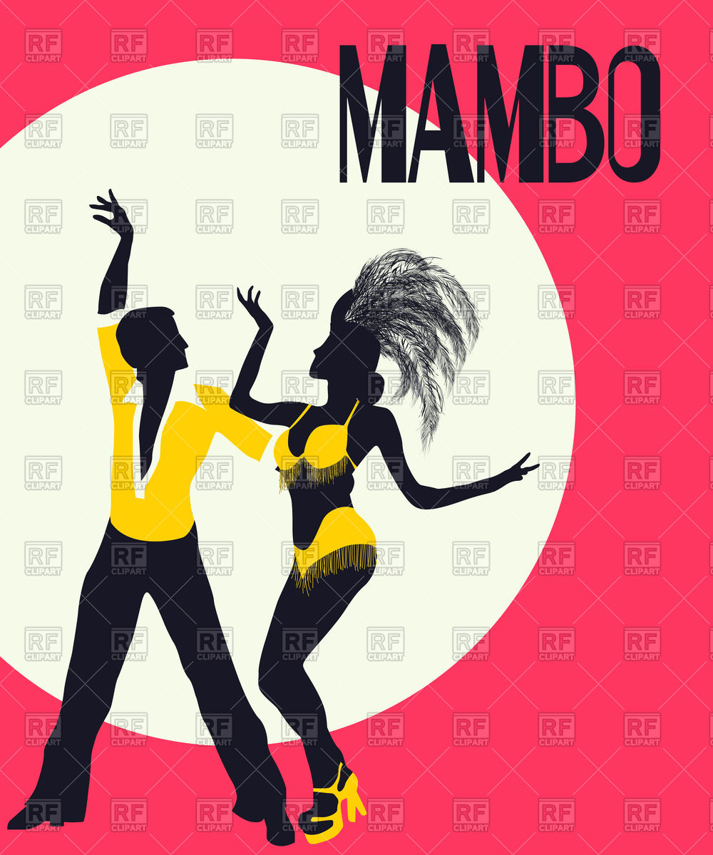 1000x1200 Mambo Poster With Dancing Couple Vector Image Vector Artwork Of
