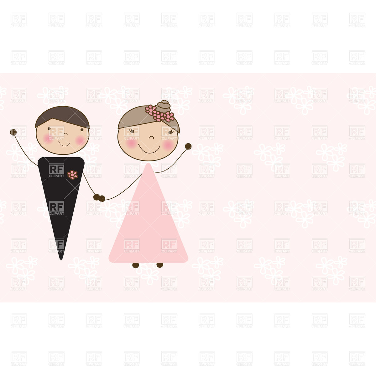 1200x1200 Cartoon Wedding Couple Vector Image Vector Artwork Of People