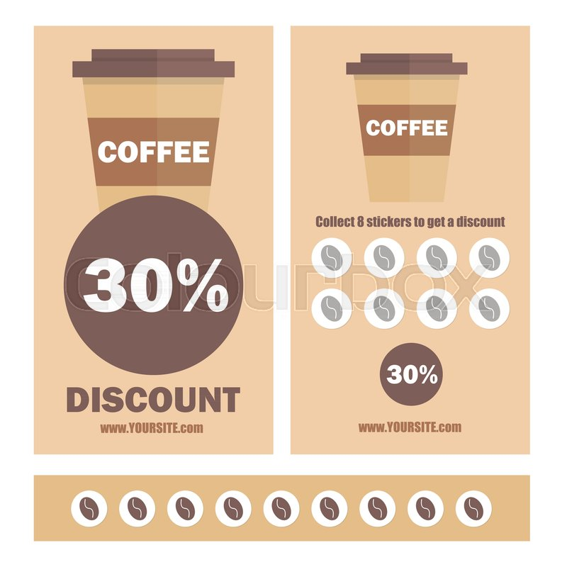 800x800 A Gift Coffee Voucher Or Discount Coupon. Vector Flat Voucher