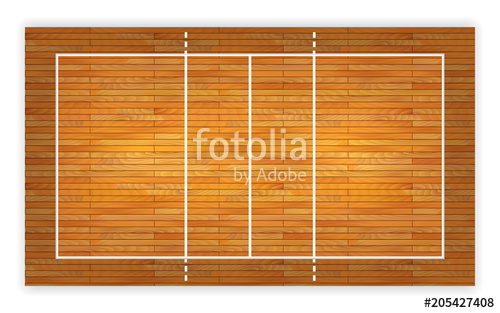 500x313 An Illustration Of An Aerial View Of A Hardwood Volleyball Court