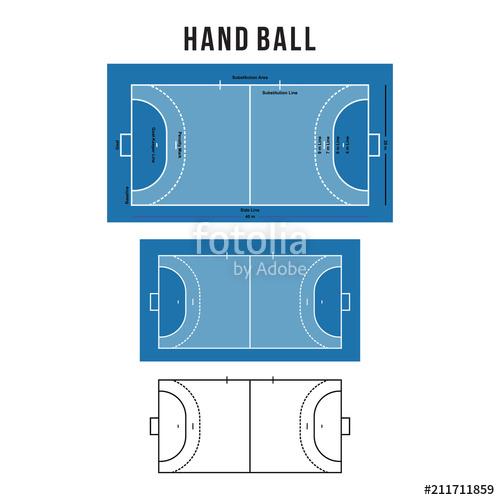 500x500 Handball Court Vector Illustration Stock Image And Royalty Free
