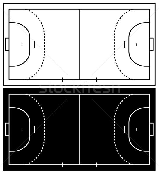 546x600 Handball Court Vector Illustration Ioana Martalogu (Dece