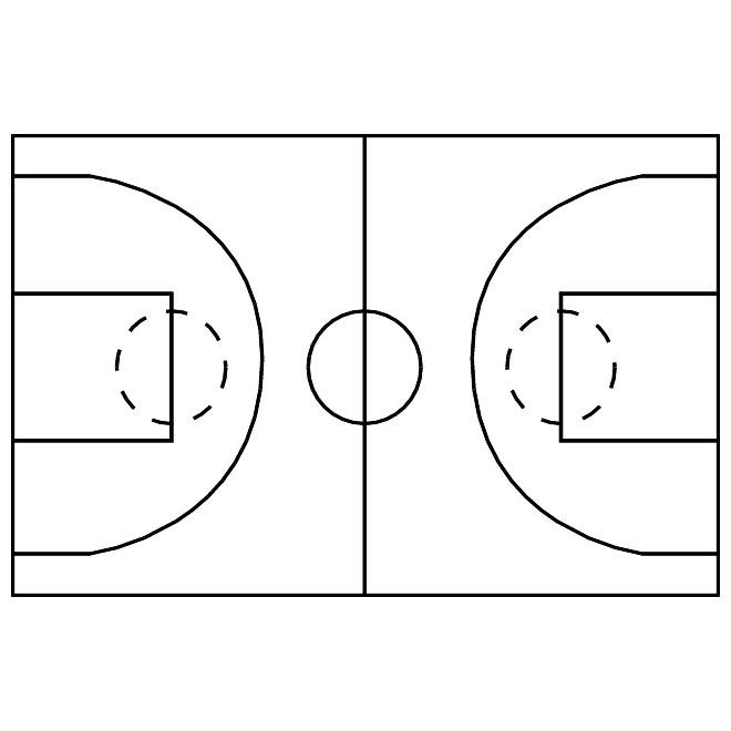 660x660 Basketball Court Vector Image