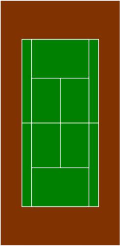 245x500 Tennis Court Vector Illustration Public Domain Vectors Knk