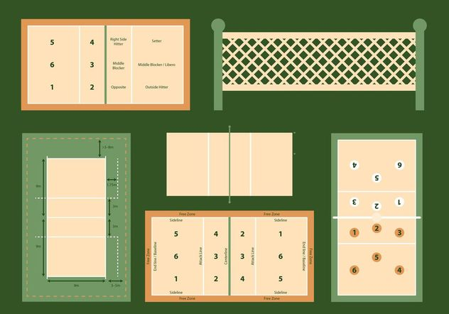 632x442 Volleyball Court Vector Diagrams Set Free Vector Download 149159