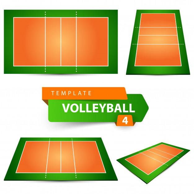 626x626 Volleyball Court Vector Premium Download