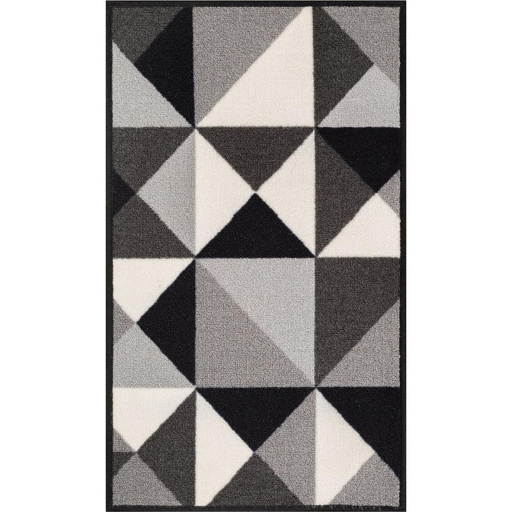 1000x1000 Well Woven Kings Court Vector Grey 2 Ft. X 5 Ft. Geometric Area