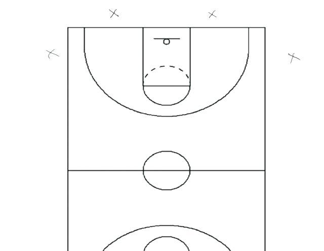 640x495 Half Basketball Courts Half Court Basketball Dimensions Basketball