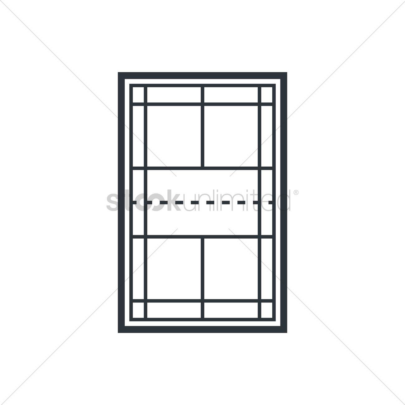 1300x1300 Badminton Court Vector Image