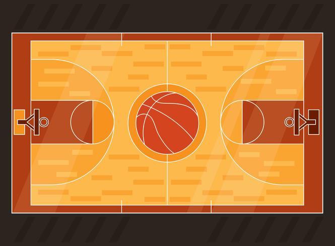 665x490 Basketball Court Vector