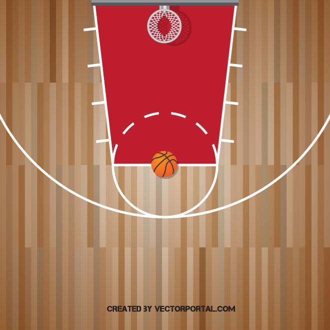 660x660 Basketball Court Vector Graphics