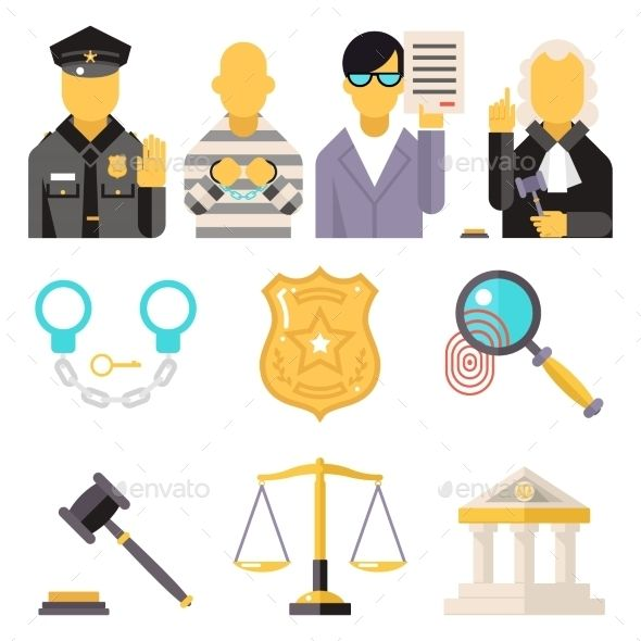 590x590 Courthouse Law Icons Set Justice Symbol Concept Lawyer Vector