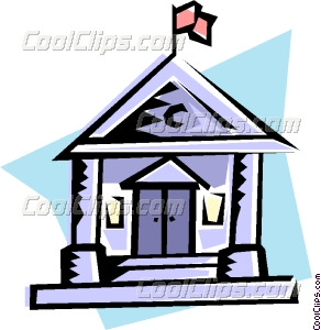 292x300 Courthouse Vector Clip Art