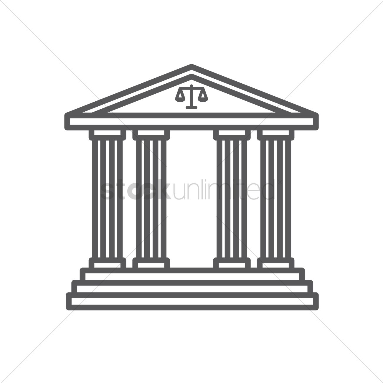 1300x1300 Courthouse Vector Image