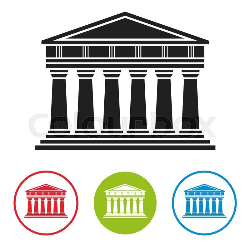 800x800 Bank, Courthouse, Parthenon Architecture Greek Temple Icon