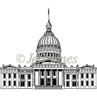 311x311 Courthouse Generic Capitol Buildings Vector Art Illustration