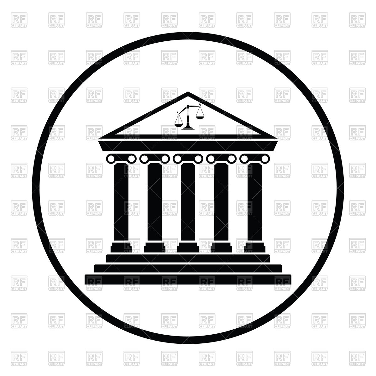 1200x1200 Courthouse Icon Vector Image Vector Artwork Of Signs, Symbols