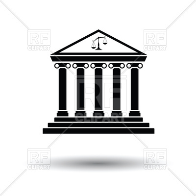 400x400 Courthouse Icon On White Background Vector Image Vector Artwork