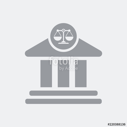 500x500 Courthouse Palace Symbol Icon Stock Image And Royalty Free Vector
