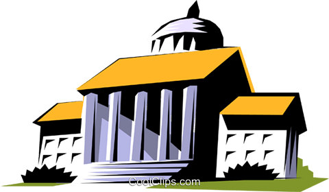 480x280 Courthouse Symbol Royalty Free Vector Clip Art Illustration