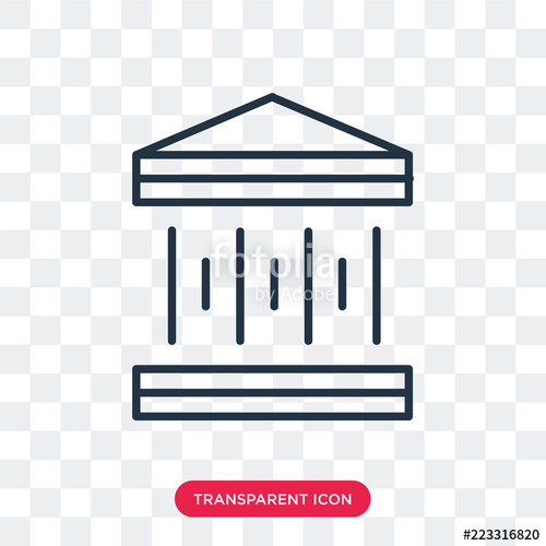 500x500 Courthouse Vector Icon Isolated On Transparent Background