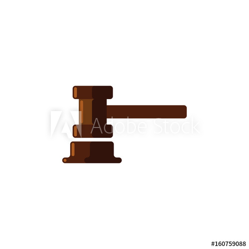 500x500 Isolated Courthouse Flat Icon. Government Building Vector Element