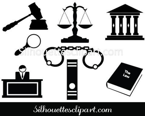 480x384 Silhouette Of Gavel Hammer Of Judge, Courthouse General