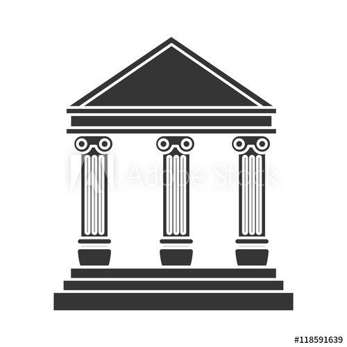 500x500 Bank Building Banking Financial Economy Money Exterior Courthouse