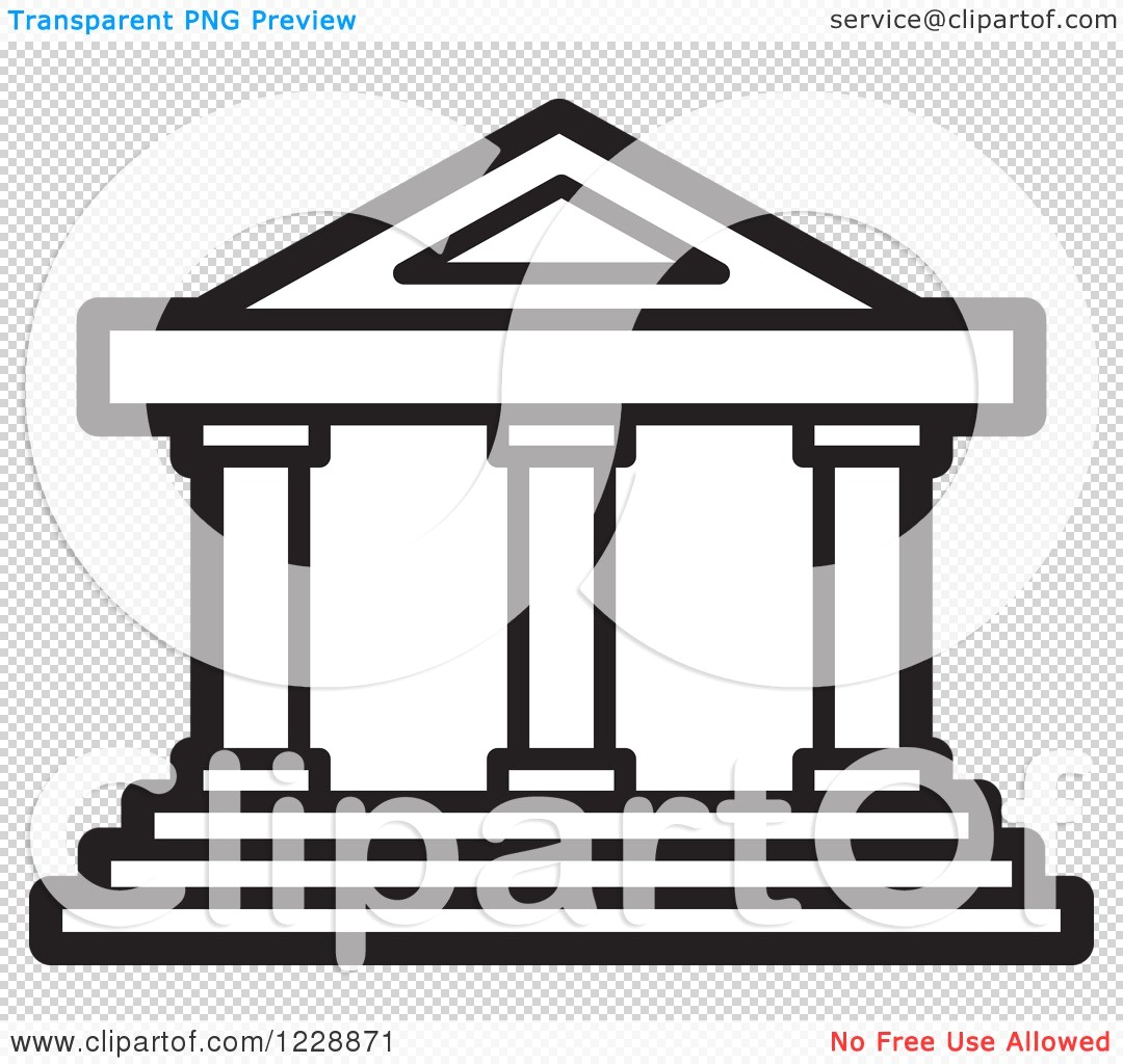 1080x1024 Courthouse Clipart Of A Black And White Court House Building Icon