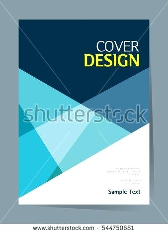 338x470 Simple Book Cover Design Template Layout Annual Report Vector In