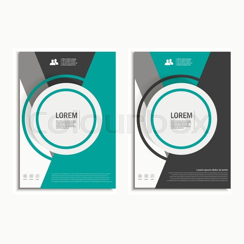 800x800 Vector Leaflet Brochure Flyer Template A4 Size Design, Annual