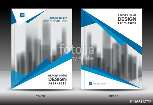 500x344 Blue Cover Design, Annual Report Template, Business Brochure Flyer
