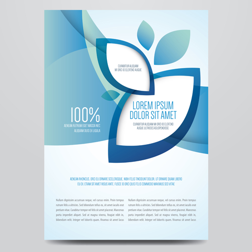 500x500 Blue Style Corporate Brochure Cover Design Vector 02 Free Download