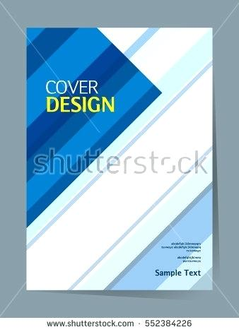 338x470 Book Cover Design Vector Template In Size Annual Report Abstract