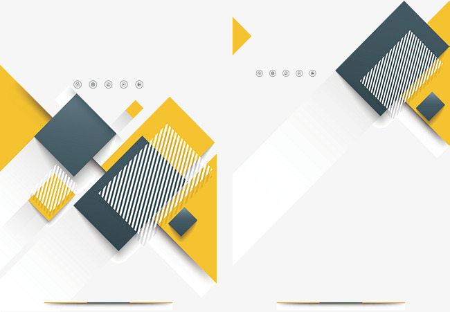 650x451 Yellow Overlay Geometric Cover, Vector Png, Geometric Cover